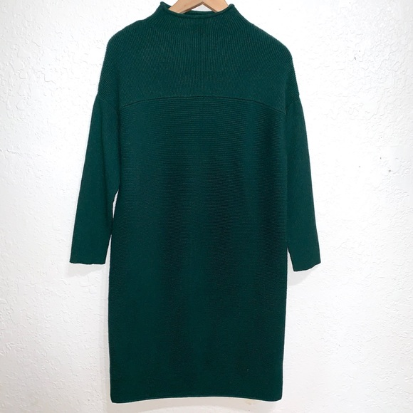 yulinge Dresses & Skirts - NWT Yulinge Dark Green Ribbed Sweat Midi Dress